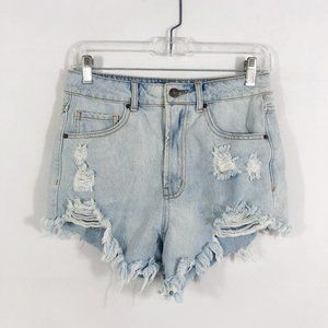 ! Forever 21 Light Distressed Denim Jean Shorts